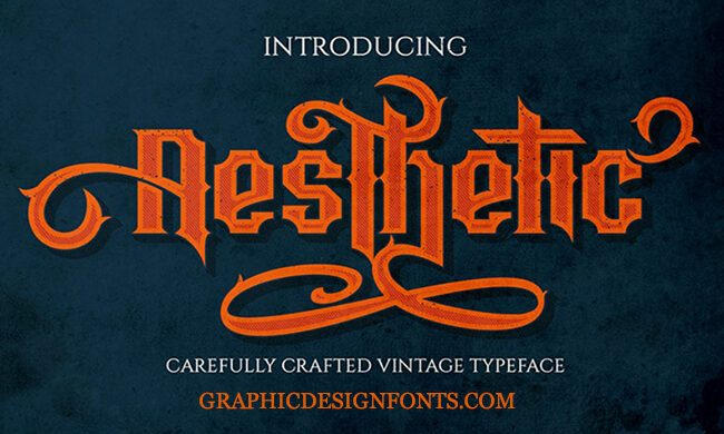 Aesthetic Font Family Free Download