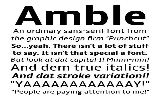 Amble Font Family Download