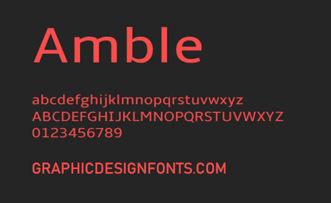 Amble Font Family Free Download