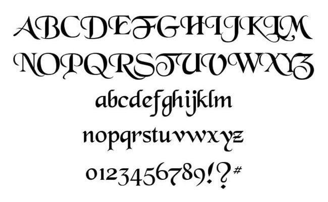 Black Chancery Font Family Download