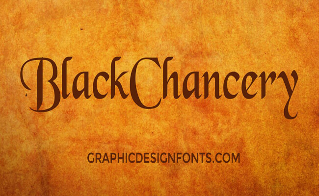 Black Chancery Font Family Free Download