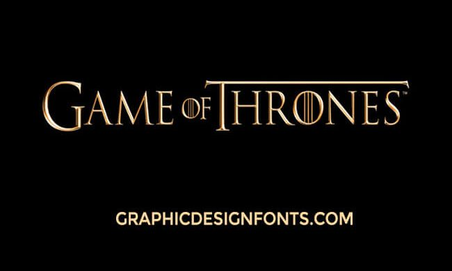 Game Of Thrones Font Family Free Download