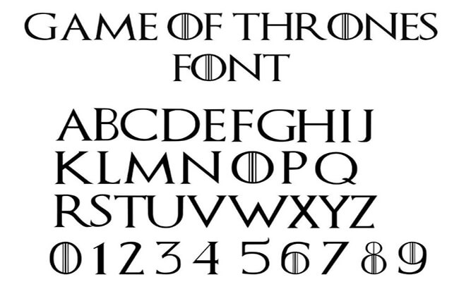 Game Of Thrones Font Free Download