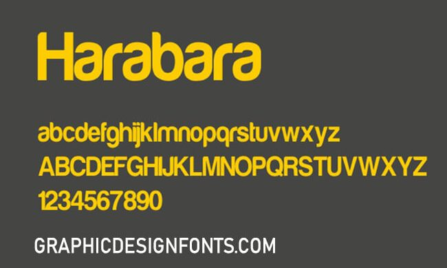Harabara Font Family Free Download