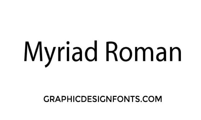 Myriad Roman Font Family Free Download