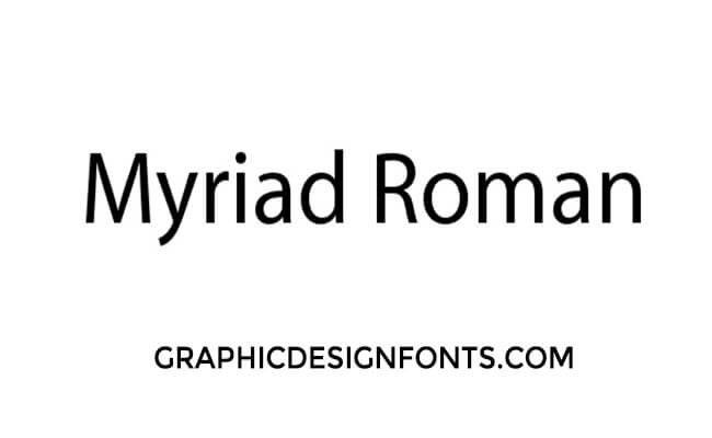 Myriad Roman Font Family Free Download