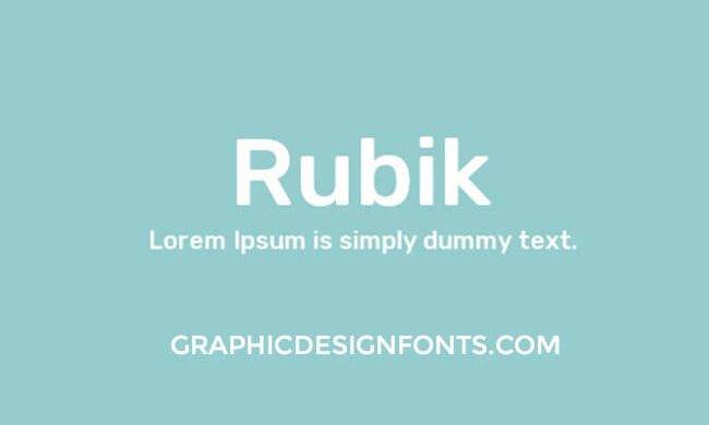 Rubik Font Family Free Download