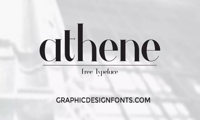 Athene Font Family Free Download