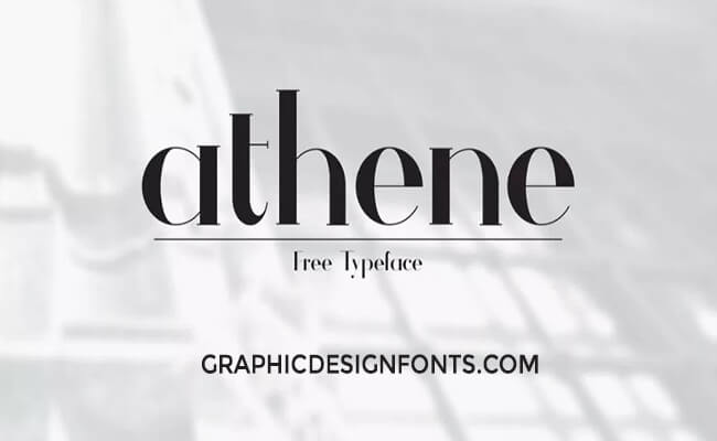 Athene Font Free Download - Graphic Design Fonts