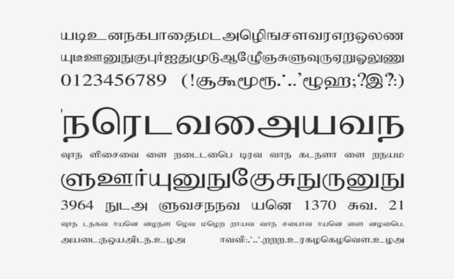 Bamini Font Family Download