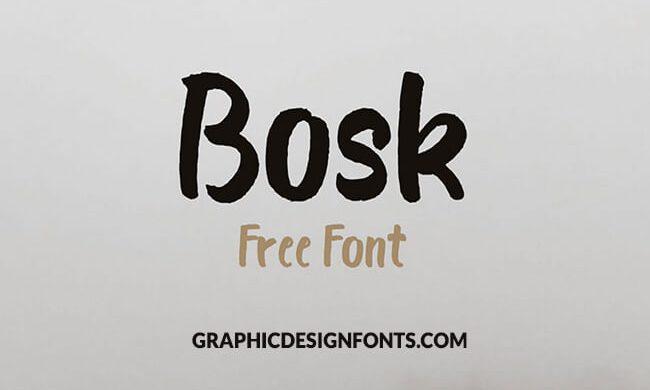Bosk Font Family Free Download