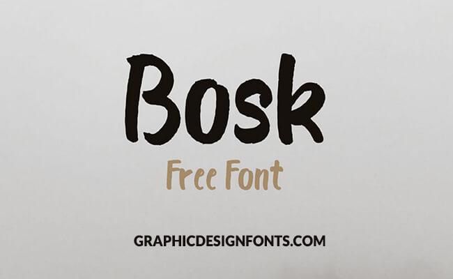 Bosk Font Family Free Download