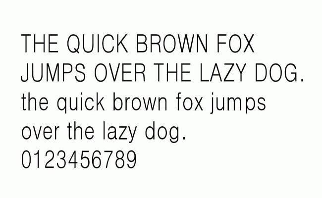 Dotum Font Family Download