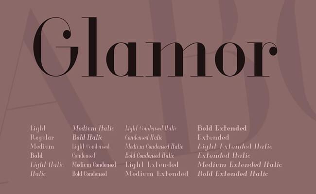 Glamor Font Family Download