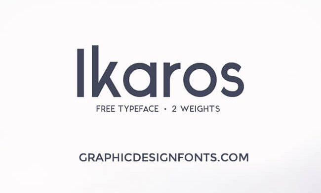 Ikaros Font Family Free Download
