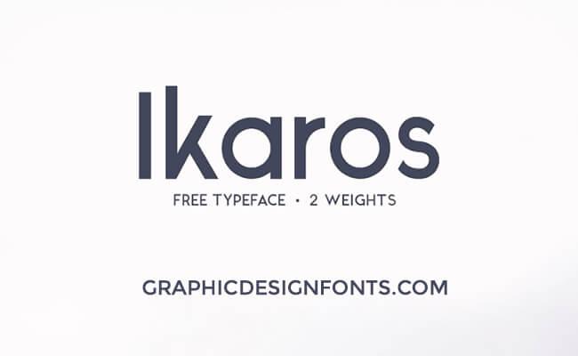 Ikaros Font Free Download - Graphic Design Fonts