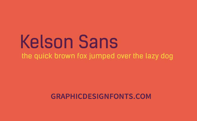 Kelson Sans Font Family Free Download