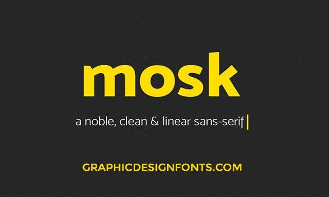 Mosk Font Family Free Download