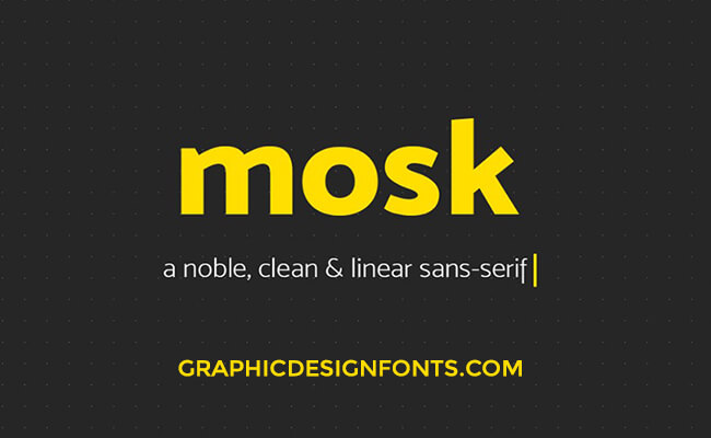Mosk Font Family Free Download
