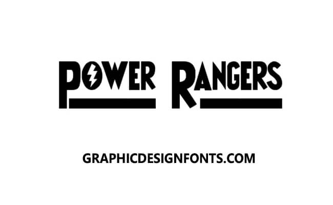 Power Rangers Font Family Free Download