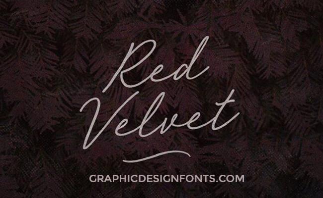 Red Velvet Font Family Free Download