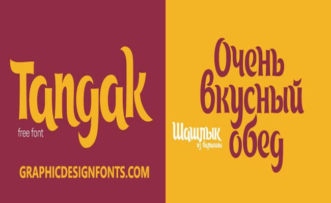 Tangak Font Family Free Download