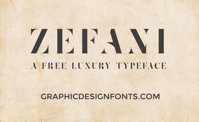 Zefani Font Family Free Download