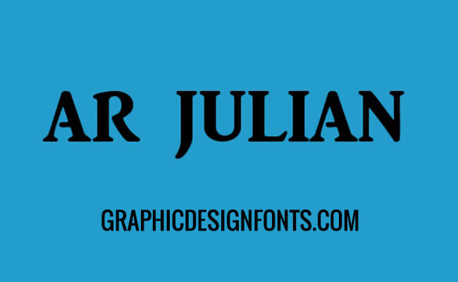 AR Julian Font Family Free Download