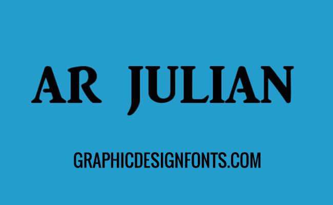 AR Julian Font Family Free Download