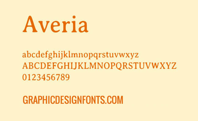 Averia Font Family Free Download