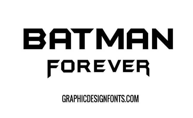 Batman Forever Font Free Download Graphic Design Fonts