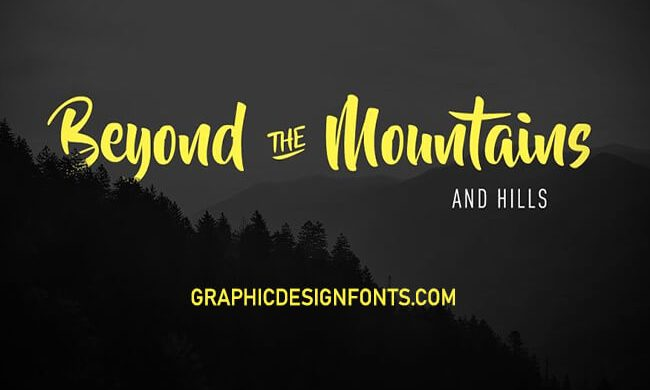 Beyond The Mountains Font Family Free Download