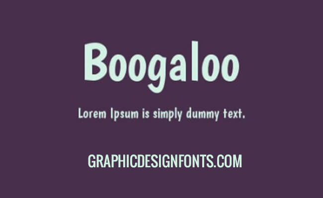 Boogaloo Font Family Free Download