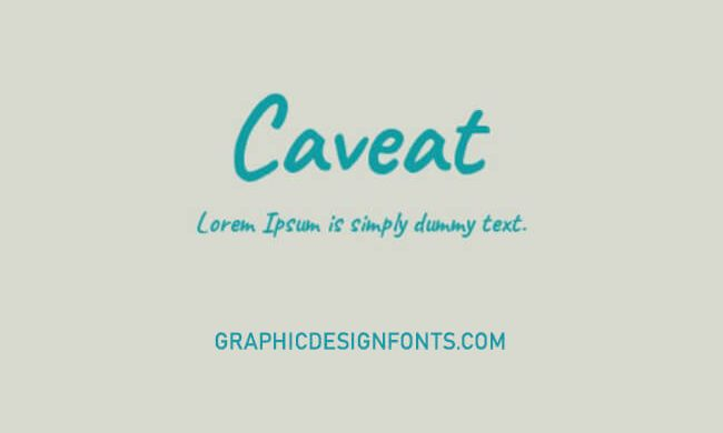 Caveat Brush Font Family Free Download