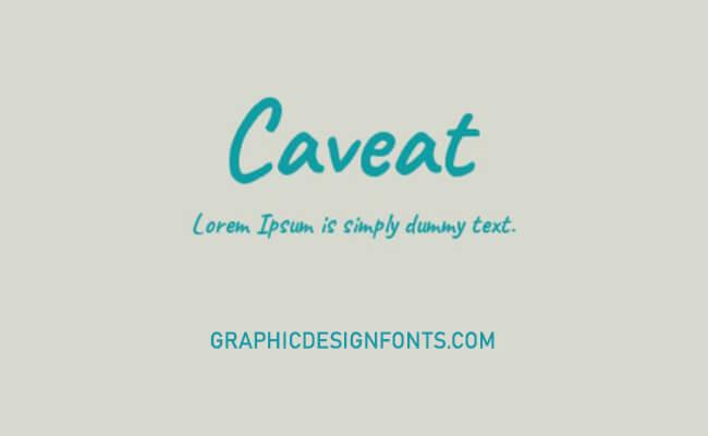 Caveat Brush Font Download - Graphic Design Fonts