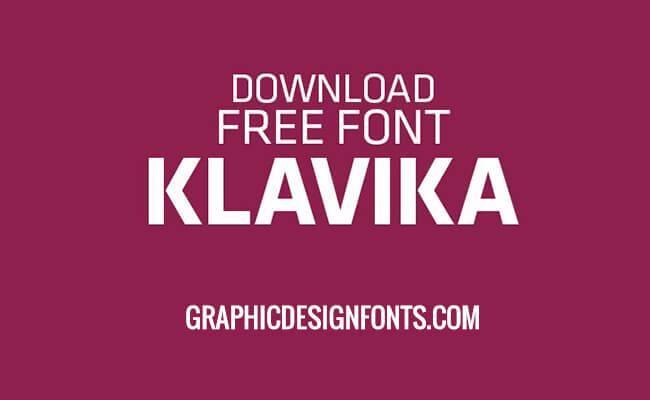 Klavika Font Family Free Download