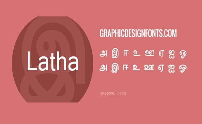 Latha Font Family Free Download