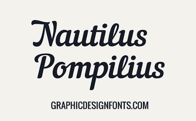 Nautilus Pompilius Font Family Free Download