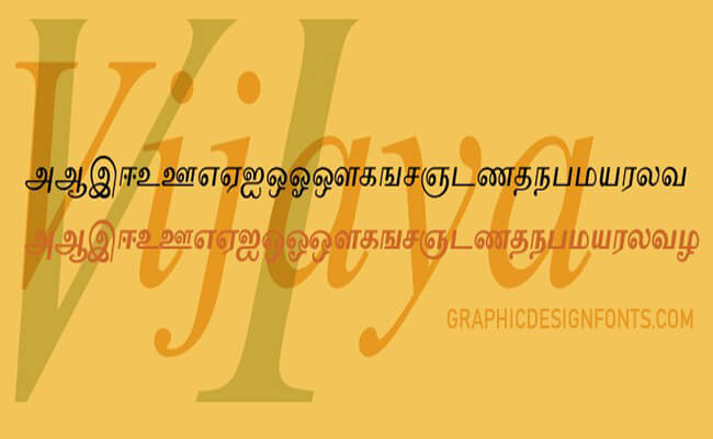 Vijaya Font Family Free Download
