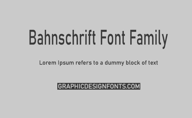 Bahnschrift Font Family Free Download