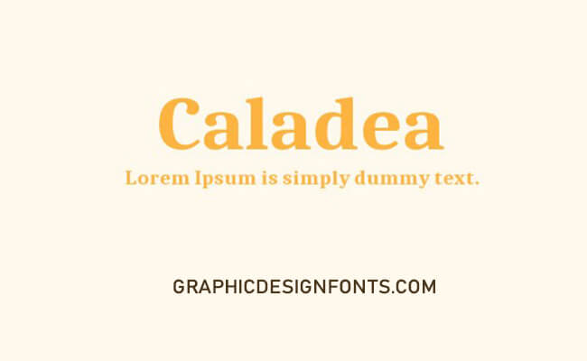 Caladea Font Family Free Download