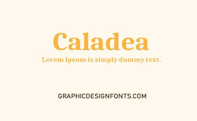 Caladea Font Family Free Download