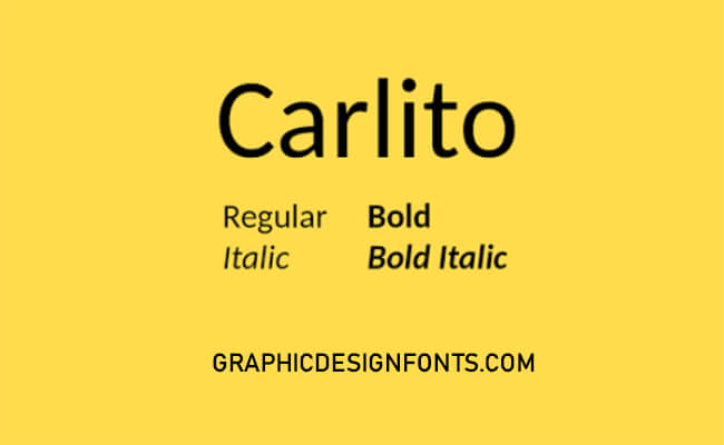 Carlito Font Family Free Download