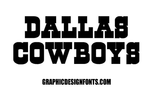 Dallas Cowboys Font Family Free Download
