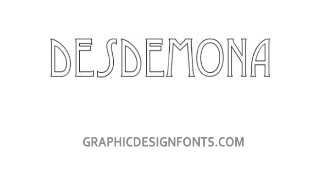 Desdemona Font Download - Graphic Design Fonts