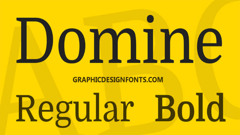 Domine Font Family Free Download