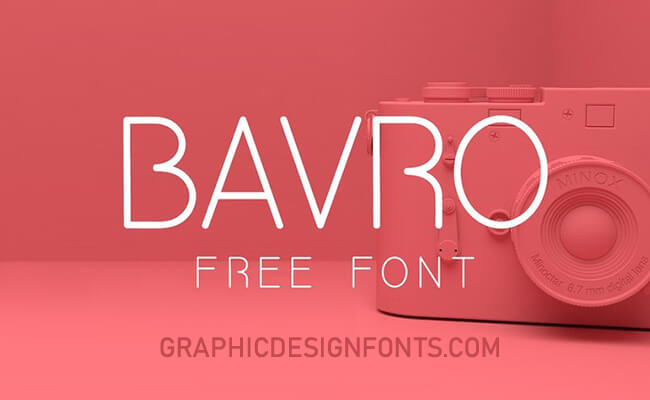 Bavro Font Family Free Download