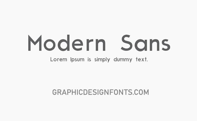 Moderne Sans Font Free Download - Graphic Design Fonts
