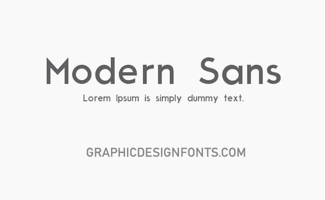 Moderne Sans Font Family Free Download