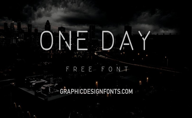 One Day Font Free Family Download